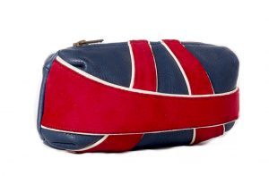 Capsule Brit Union Jack style compact clutch bag